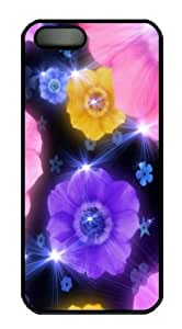 Flash Color Flowers Polycarbonate Hard Case Cover for iphone 6 Black by supermalls