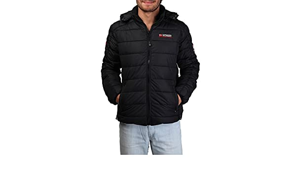 Jacket Geographical Norway Bellissimo man black - man - S at Amazon Mens Clothing store: