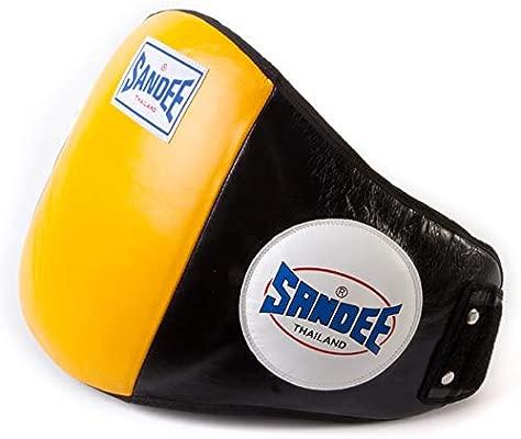 Sandee Belly Pad Protector Body Shot Coaching Muay Thai Boxing Kick Knee Sheild