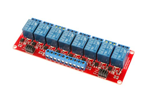 - NOYITO 8-Channel Relay Module High Low Level Trigger with Optocoupler Isolation Load DC 30V / AC 250V 10A for PLC Automation Equipment Control Industrial Control Arduino (8-Channel 12V)