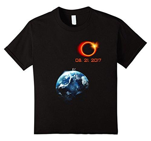 Price comparison product image Kids Total Solar Eclipse Summer August 21st 2017 T shirt 10 Black