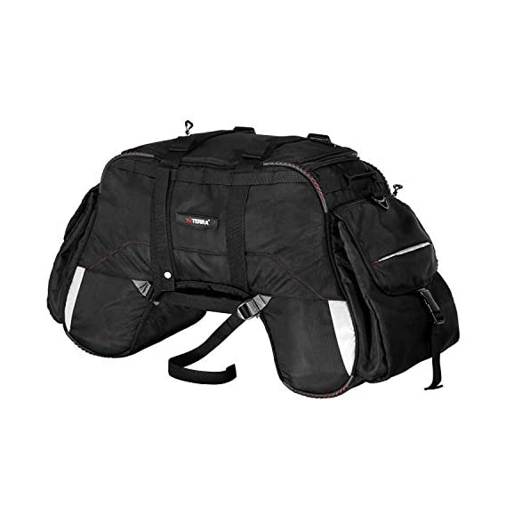 Viaterra 100% Waterproof Claw Motorcycle Tailbag (Black)