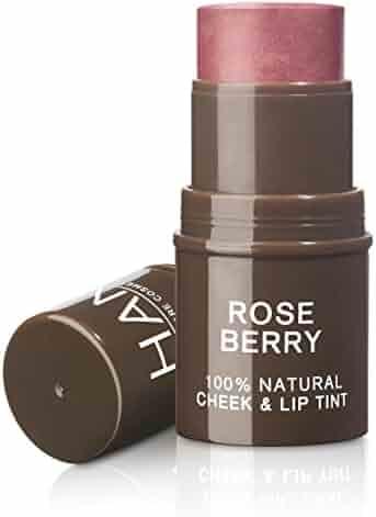 HAN Skin Care Cosmetics Natural Cheek and Lip Tint, Rose Berry