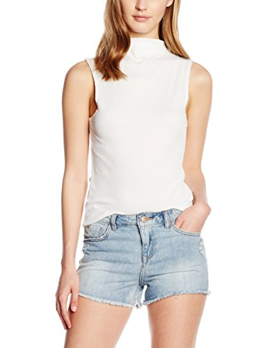 Camiseta New Marfil Sin Carly Rib Mangas Look Mujer cream Para rqr8AWtnv