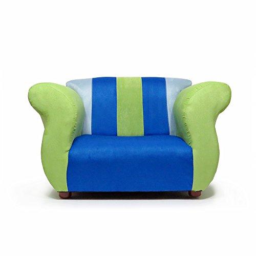 Microsuede Club Chair - KEET Fancy Kid's Chair, Blue/Green