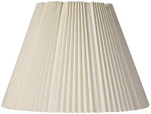 Eggshell Pleated Lamp Shade 9x17x12.25 (Spider) - ()