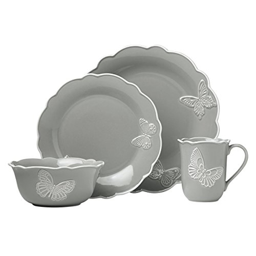 Lenox Butterfly Meadow Carved Slate 4 Piece Place Setting