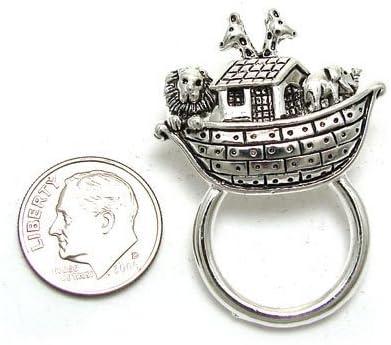Pin 003 20 Noahs Arc V G S Eternity Fashions Jewelry ~ Small Noahs Arc Pin Brooch ID Holder Badbe Holder Combo