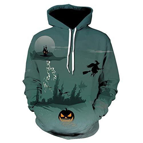 Couples Halloween Pumpkin Hoodies Long Sleeve Sweatshirt Pullover Multicolor 3XL ()