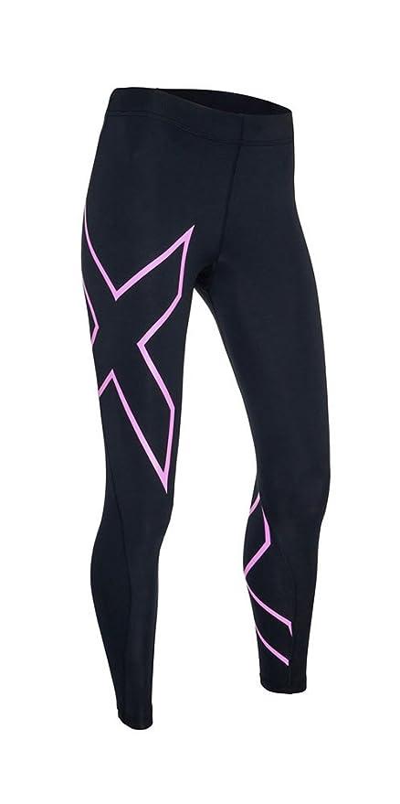 2XU Women's Core Compression Tights (Black/Fluro Pink, Large Tall ...