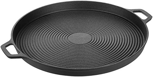 AmazonBasics Pre-Seasoned Cast Iron Pizza Pan, 13.5 Inch ()