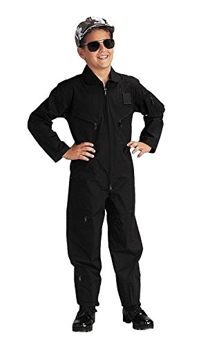 Boy's Black Flight Coverall, Black, X-Small by Rothco