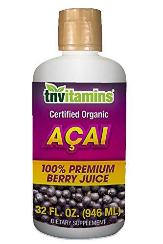 100% Pure Acai Juice - TNVitamins Acai Berry Juice   100% Certified Organic   32 oz