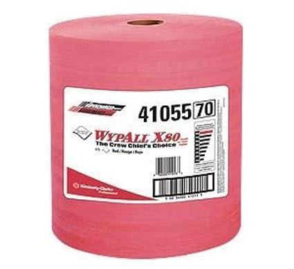 "Kimberly-Clark 12 1/2 ""x 13.4"" rojo Wypall X80 shoppro"