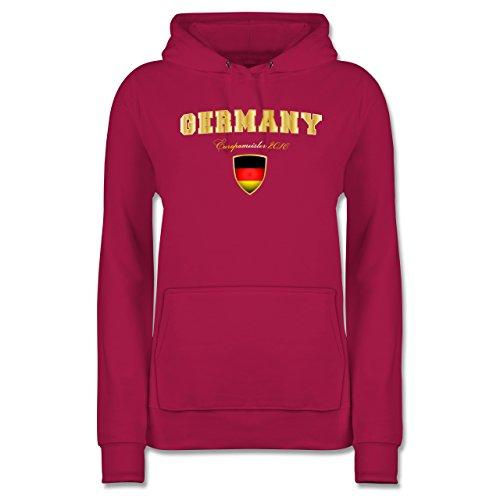 Shirtracer Fußball-Weltmeisterschaft 2018 - Germany Europameister 2016 - Damen Hoodie Fuchsia bLNYXdh