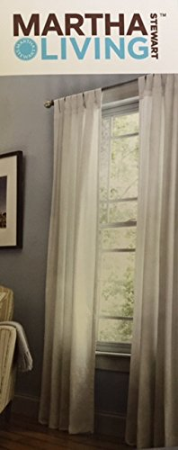 Pure White Classic Cotton Tab Top Curtain - 50 in. for sale  Delivered anywhere in USA