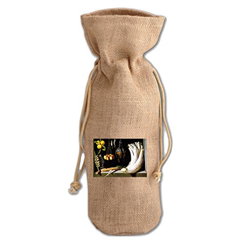 Sanchez Bag - Venison Vegetables Fruits (Sanchez) Jute Burlap Burlap Wine Drawstring Bag
