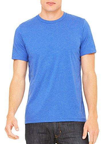 Heritage Jersey T-shirt - Bella + Canvas Unisex Jersey Short Sleeve Tee, Heather True Royal, XX-Large