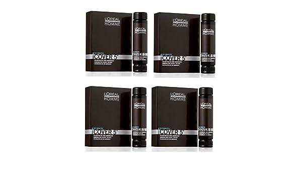 Loreal Professionnel Homme Cover 5 No 6 rubio oscuro 3 x 50 ml: Amazon.es: Belleza