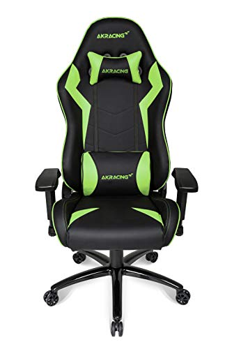 AKRacing Core Series SX Gaming Chair with High Backrest, Recliner, Swivel, Tilt, Rocker & Seat Height Adjustment Mechanisms, 5/10 Warranty - Green AKRacing