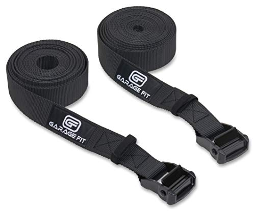 Garage Fit Gymnastic Rings - Premium Heavy Duty Cross Training, Gymnastics, Fitness, Exercise Rings (Black 20 Foot Straps Only)