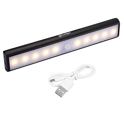 CeSunlight Stick on Anywhere Portable 10 LED Wireless Motion Sensing Night Light, Perfect for Closet / Cabinet / Corridor ( SEN003 Warm Light 1 Pack )