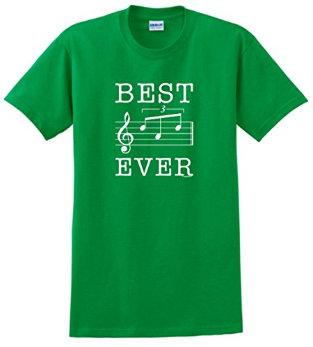 Dad Birthday Gifts for Musician Dad Gifts from Son Dad Music Gifts Best Dad Ever Dad Music Note Gift T-Shirt 2XL Green