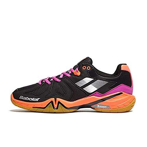 Babolat 2018 Shadow Spirit Women Shoe,Badminton/Racquetball/Squash/Indoor Tennis,Black/Purple/ Pink (7.0)