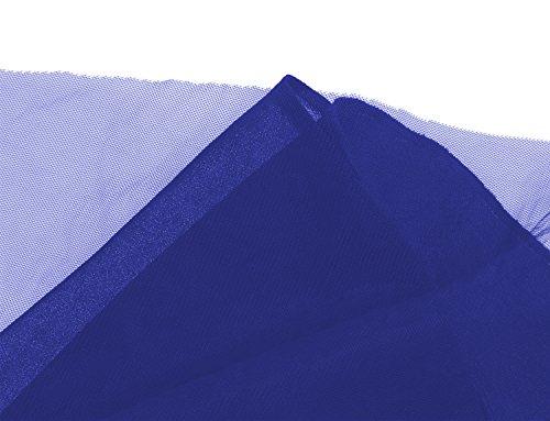 Ssyiz - Vestido - trapecio - Sin mangas - para mujer Azul