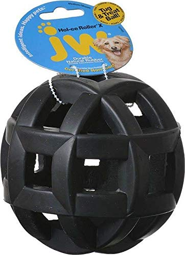 Jw Pet Rubber Balls - JW Pet Company Hol-ee Roller X Extreme 5 Dog Toy, 5-Inches (Colors Vary)