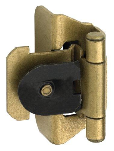 Amerock BP8701BB Double Demountable Hinge, Burnished Brass, 1/4-Inch Overlay - Brass Double Clamp