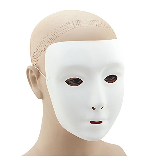 Bristol Novelty PM055 Plain Face Mask, Unisex-Adult, White, One Size]()