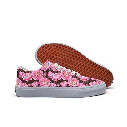 (SERXO Cherry Blossom Stems Skateboarding Shoes for Women Lightweight Sneakers)