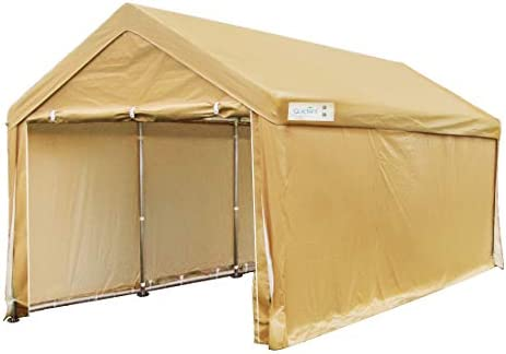 Quictent 10'x20' Carport Heavy Duty Car Canopy Galvanized Car Shelter with Reinforced Steel Cables and Ground Bars