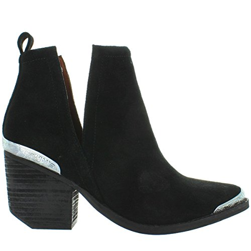 Jeffrey Campbell Women's Cromwell Suede Booties, Black, 8.5 M US