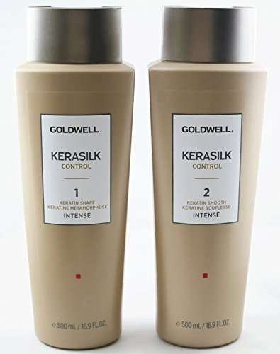 Goldwell Kerasilk Keratin Treatment SHAPE & SMOOTH INTENSE (16.9 Each) - NEW LOOK! by Goldwell
