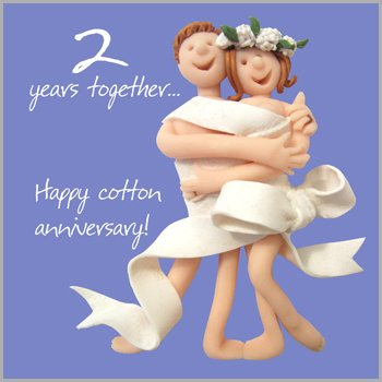 2nd year wedding anniversary message for husband