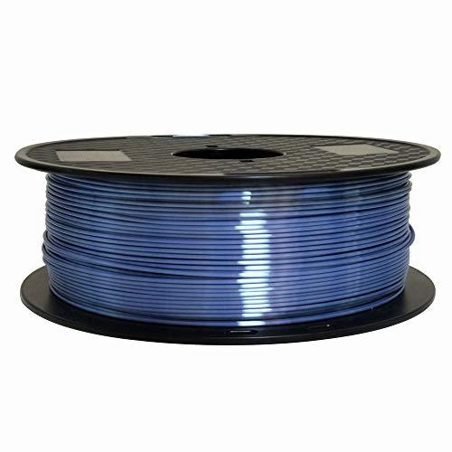 Silk Silver Blue 1.75mm PLA Filament 3D Printer Filament 1KG (2.2LBS) Printing Material Shine Silky Filament CC3D Shiny Silk Gold Silver Copper