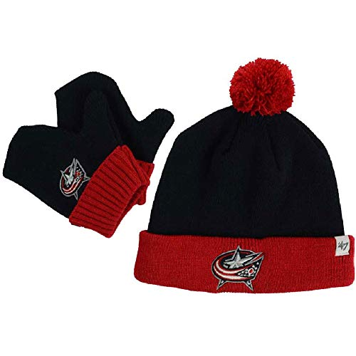 '47 Columbus Blue Jackets Infant Bam Bam Knit Beanie and Mitten Set