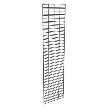 Wire Slatgrid Panel, Black, 2ft. x8ft, PK3