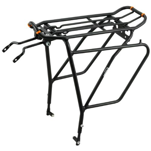 Rear Frame Mount (Ibera PakRak Bicycle Touring Carrier Plus+ Carrier Rack IB-RA5 (with Disc Brake Mounts) Frame-Mounted for Heavier Top & Side Loads Bike Cargo)