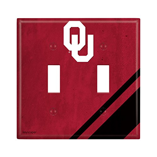 Oklahoma Sooners Double Toggle Light Switch Cover NCAA