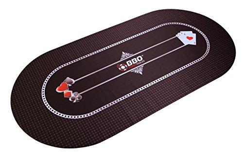 BBO Poker Portable Poker & Game Mat for 8 Players, Green