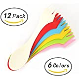 Set of 12 - ZICOME Original BPA-Free Tritan Spork Multi-Color (6 Colors)