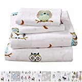 Home Fashion Designs Stratton Collection Extra Soft Printed 100% Turkish Cotton Flannel Sheet Set. Warm, Cozy, Lightweight, Luxury Winter Bed Sheets Brand. (Twin XL, Hooting Owls)