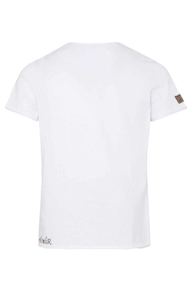 0100-WEI/ß, Hangowear Herren Herren T-Shirt Gipfelrausch Weiss