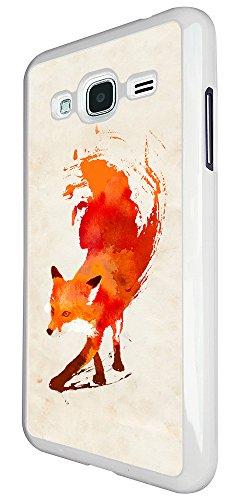 Price comparison product image 350 - Watercolour Fun Full Fox Design For Samsung Galaxy J3 2016 SM-J320F Fashion Trend CASE Back COVER Plastic&Thin Metal - White