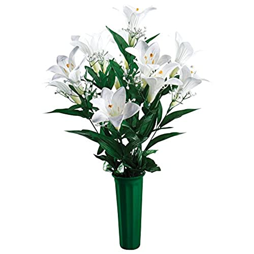 Artificial flowers for grave amazon miles kimball easter lily memorial mightylinksfo