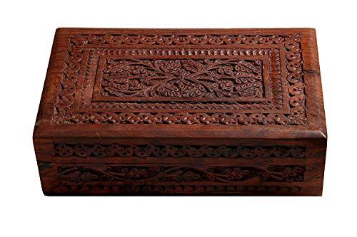 - Handmade Wooden Jewelry Box / Ring Box / Watch Box / Keepsake Trinket Organiser (Design 1)