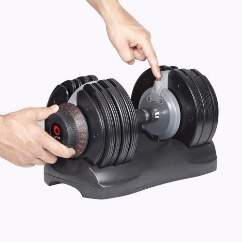 DialTech Hantelsystem Einstellbare Hantel von 5 bis 32,5 KG im Set